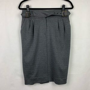 Anthropologie Maeve Pencil Skirt Gray 6 Pockets